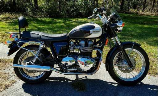 Check out this 2008 Triumph Bonneville T100 listing in Asheville, NC 28803 on Cycletrader.com. It is a Standard Motorcycle and is for sale at $4950.