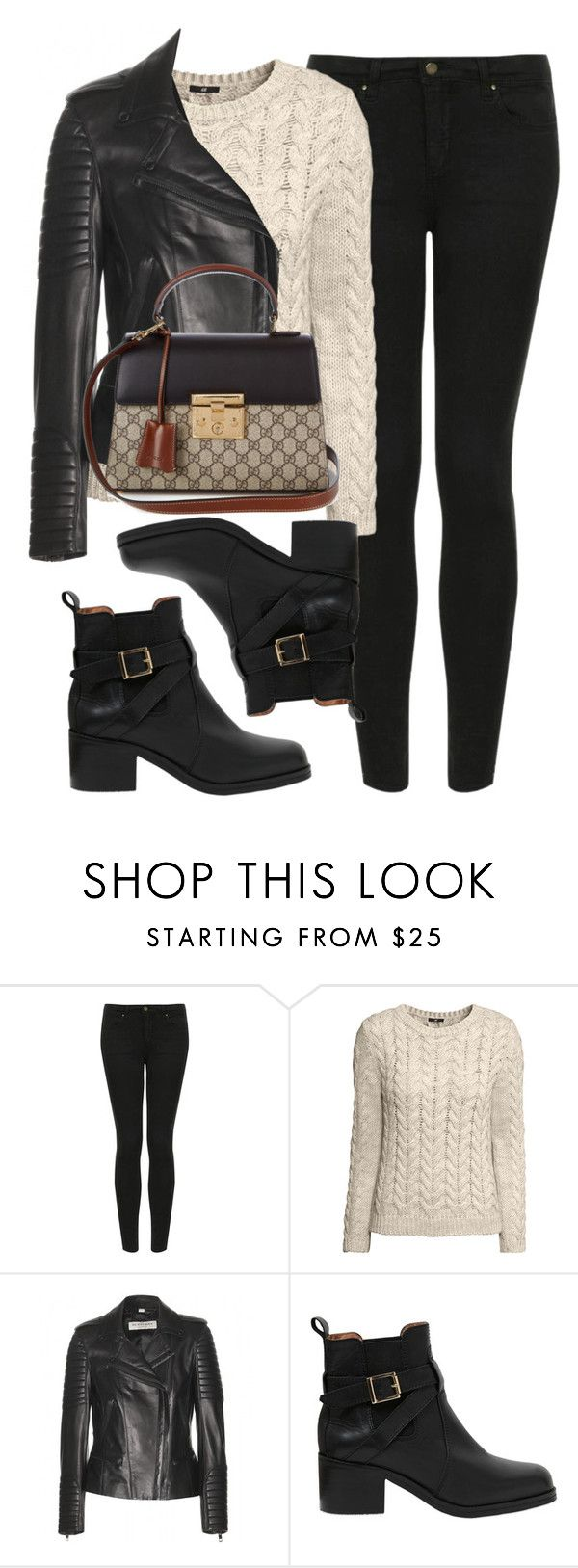 """Sin título #12014"" by vany-alvarado ❤ liked on Polyvore featuring Topshop, H&M, Burberry, Carvela Kurt Geiger and Gucci"