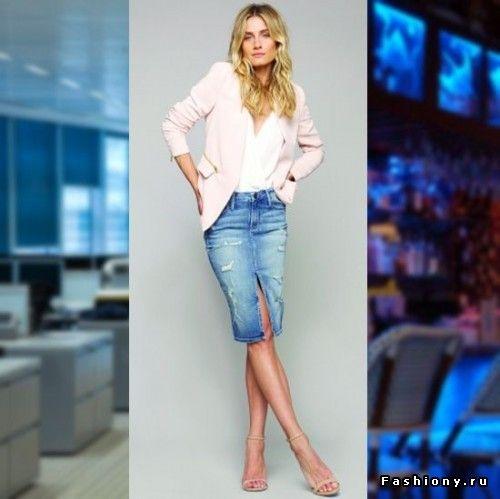 Модные джинсовые юбки. С чем их носить?