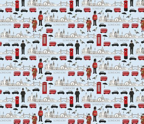 London smaller scale fabric by hazel_fisher_creations on Spoonflower - custom fabric