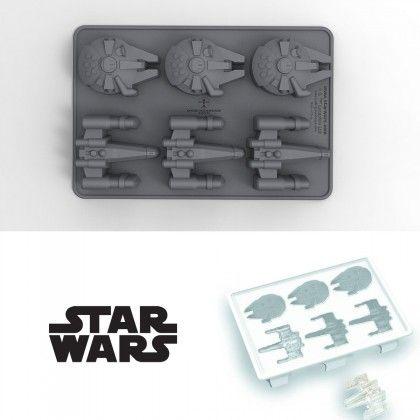 MOULE À GLAÇONS STAR WARS - X-WING ET FAUCON MILLENIUM : Kas Design, Distributeur de Produits Star Wars