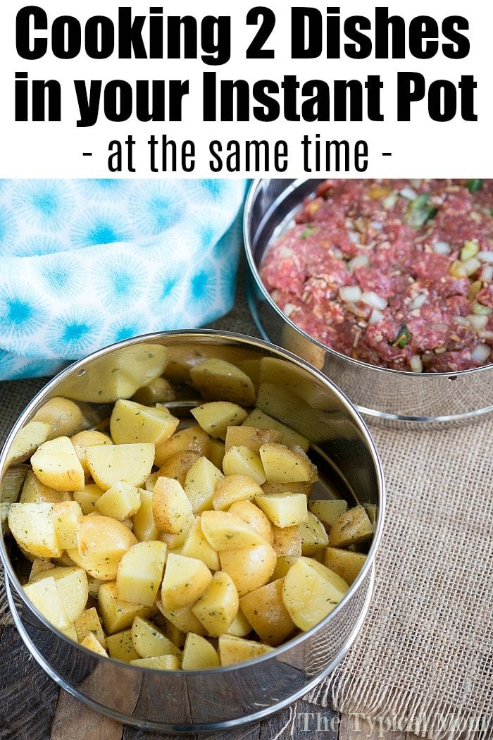 This Pressure Cooker Meatloaf And Potatoes Recipe Shows You How To Cook 2 Different Dishes In Your In Cooking Pressure Cooker Meatloaf Easy Instant Pot Recipes