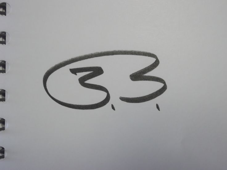 "One-line signature for ""B.B."""