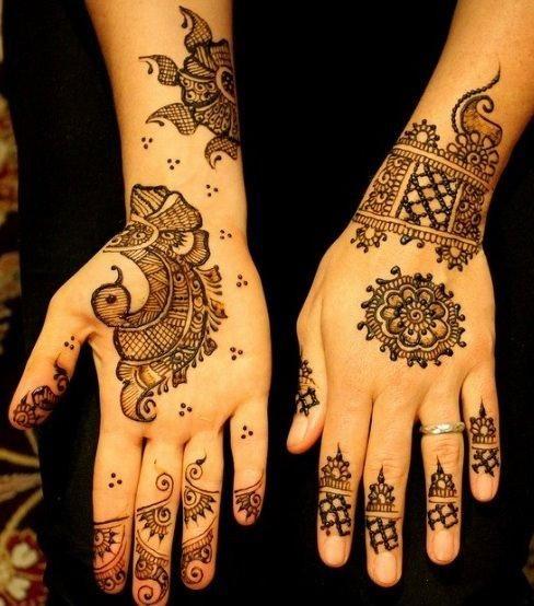 Stylish And Easy Arabic Mehndi Designs