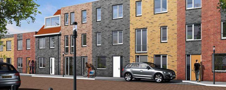 Straatperspectief diverse woningen....