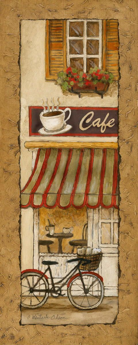 Village Café by Charlene Olson 8x20 in. Art Print