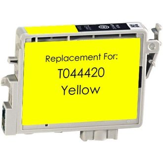 Epson T044420 Ink Cartridge Yellow. This is a Remanufactured Replacement Inkjet for Epson Printers.