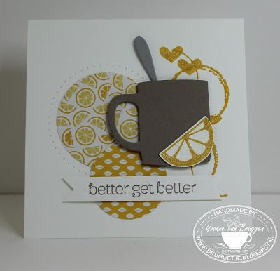 Yvonne is Stampin' & Scrapping: Stampin' Up! A Nice Cuppa, Timeless Textures and Wink of Stella #stampinup #anicecuppa #winkofstella