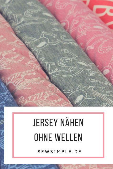ᐅ Jersey wellt sich beim Nähen