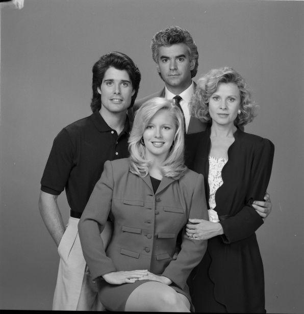 Dr. Jim Grainger, Jessica Blair, Christine Blair and Scott Grainger (Y & R)