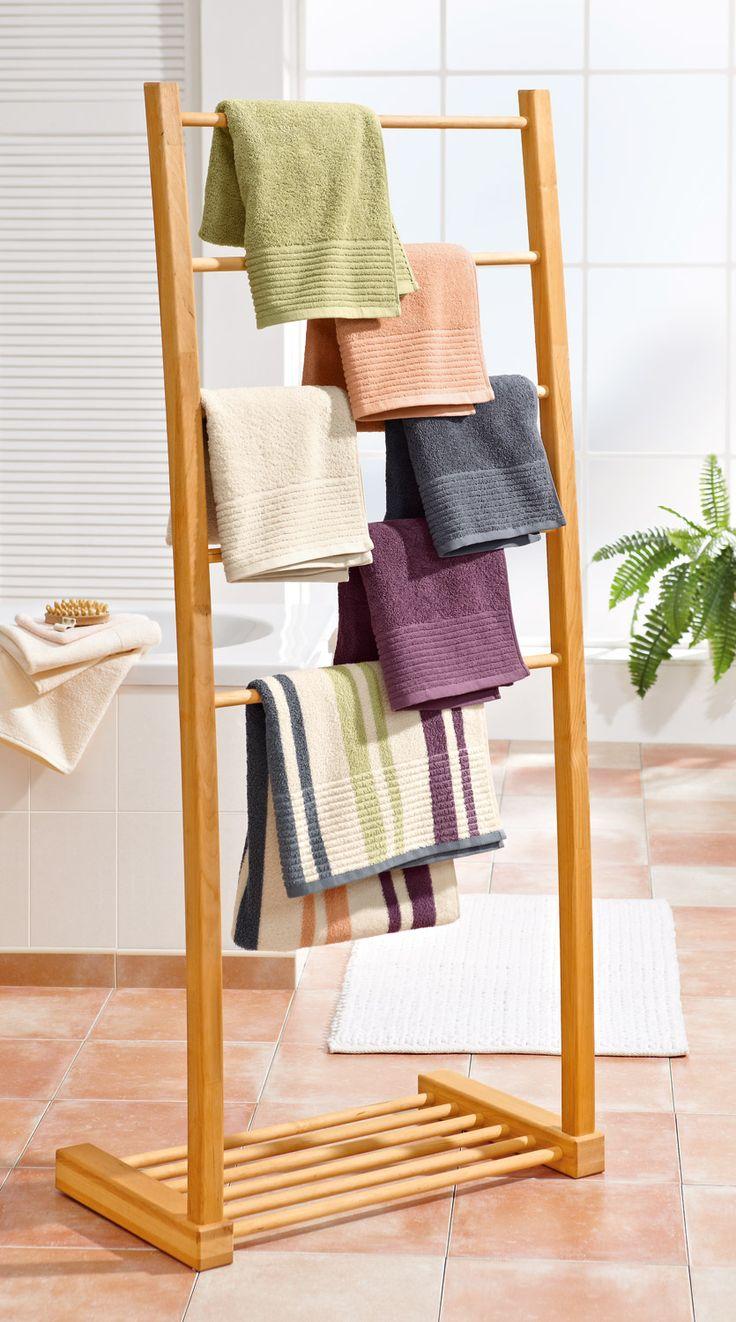 Ikea Houten Rek Badkamer ~ Houten Handdoeken rek  Badkamer Accessoires  Pinterest