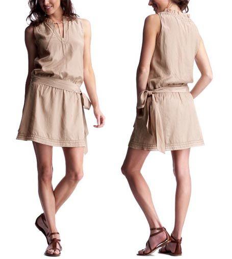 Sash Waist Tunic Dress