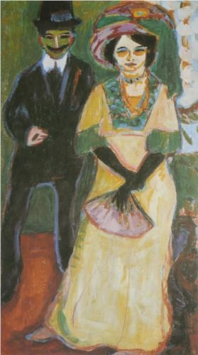 Dodo and her Son: Genre Paintings, Ernst Ludwig, Art Literario, Art Paintings People Genre, The Bridge, Ludwig Kirchner, 1908 Ernst, Artpaintingspeopl Genre, Ernst Kirchner