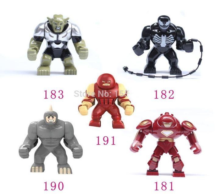 5pcs Big juggernaut Venom Lazy Rhino VS Hulk Buster Green Goblin Figures Toys Marvel Building Blocks Action Figures Bricks Toys //Price: $US $15.00 & FREE Shipping //     #toys