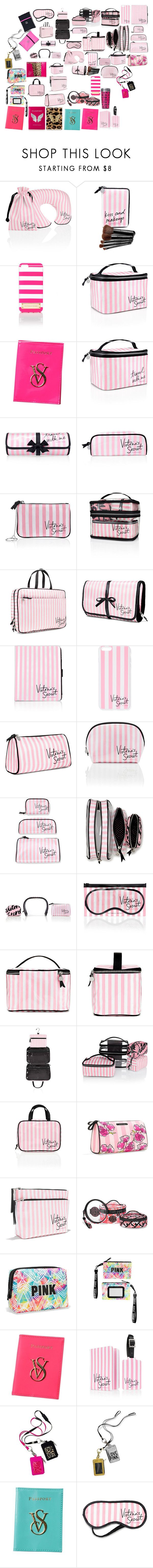 """VS PINK"" by angelbrubisc ❤ liked on Polyvore featuring beauty, Victoria's Secret, Beauty Rush and Passport"