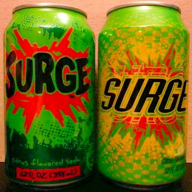 Surge!! Remember when they had a t-shirt in the can!!