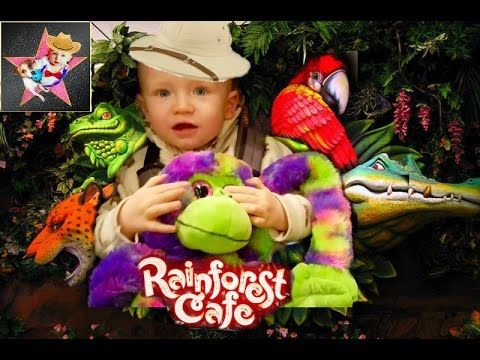 Мы в Тропическом Кафе, Rainforest Caffe, Мягкие Игрушки, Family Fun Them...