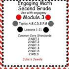 This 88 page Power Point file supports the third module of the EngageNY math program Topics A-G, lessons 1-21. You will need to download the free E...
