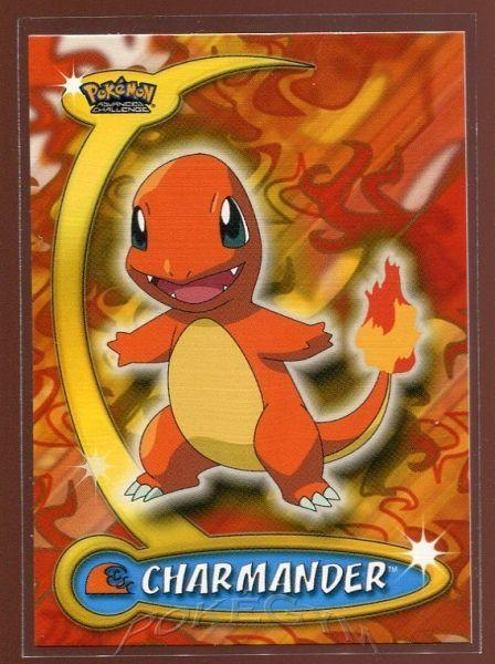 #017 Charmander - Topps Pokemon Cards - Pokemon Advanced Challenge Trading Cards - $
