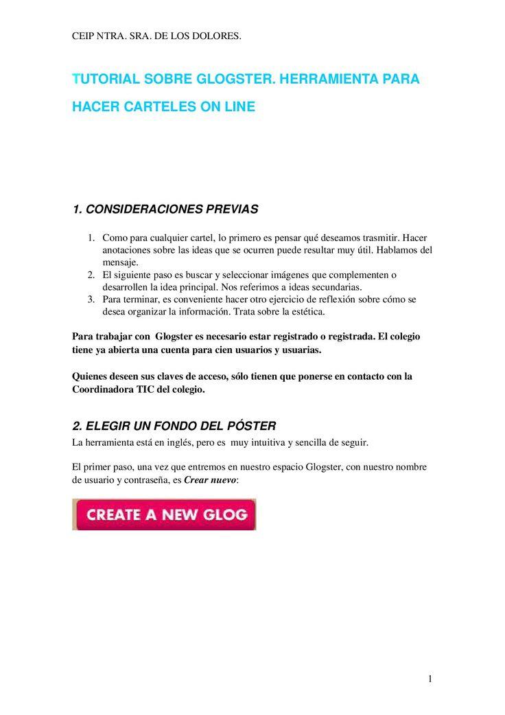 Tutorial para hacer carteles online con Glogster