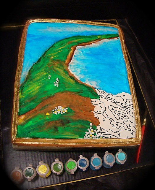 paint by number cake by debbiedoescakes, via Flickr
