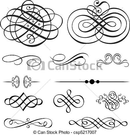 Vector - Vector Victorian Ornament Set - stock illustration, royalty free illustrations, stock clip art icon, stock clipart icons, logo, line art, EPS picture, pictures, graphic, graphics, drawing, drawings, vector image, artwork, EPS vector art