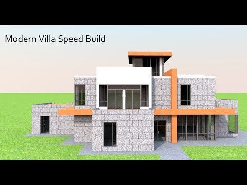 Modern Villa Speed Building In Sweet Home 3d Youtube
