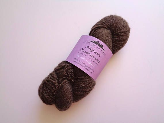 Pure Cashmere Yarn Brown DK Weight From the Mountain