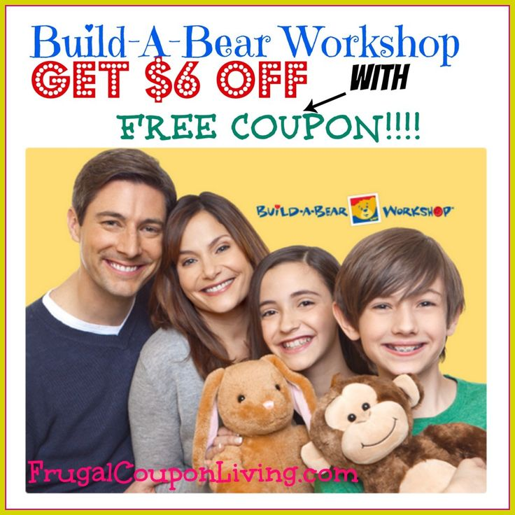Build-A-Bear Workshop FREE Coupon – Get $6 OFF at Build-A-Bear #buildabear #voucher #coupon