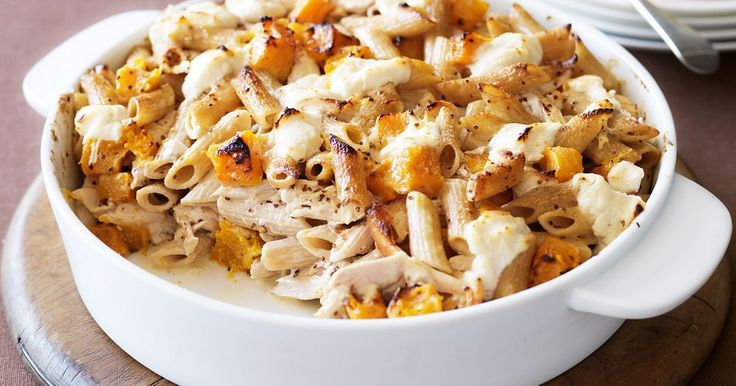 Our Chicken and pumpkin pasta bake recipe is super-easy and tasty.