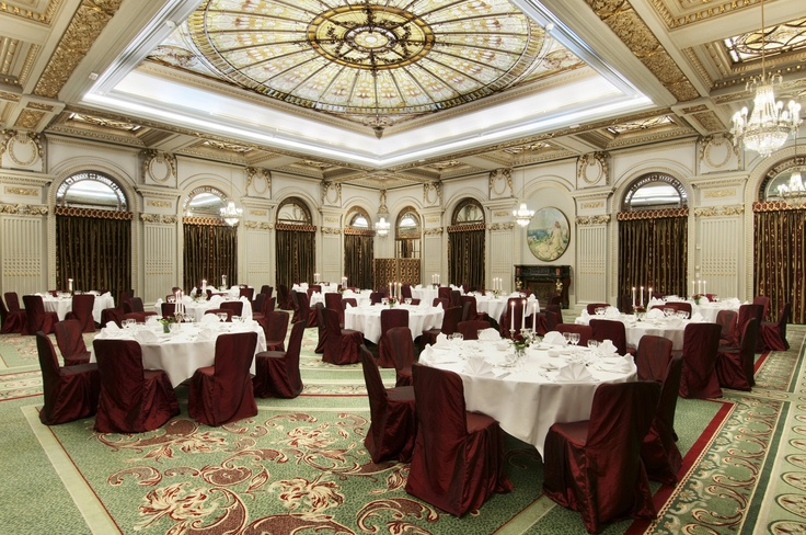 """Le Diplomate"" Ballroom wedding setup at the Athenee Palace Hilton Bucharest"