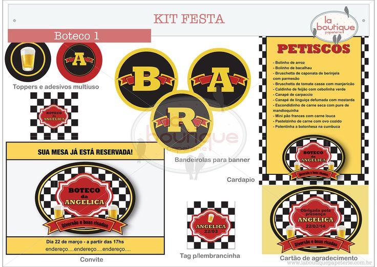 Kit Festa tema BOTECO