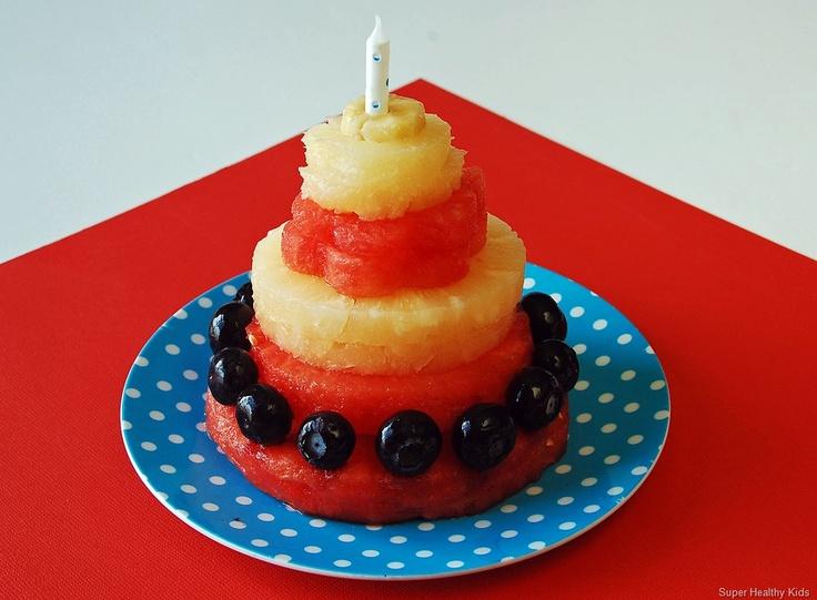fruit party cake! Healthy Celebration!