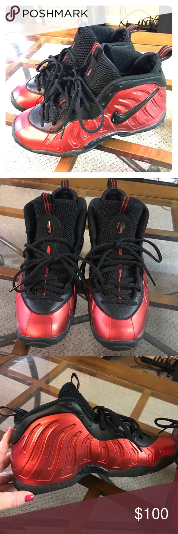 University Red Foams Size 6.5 youth Worn a few times excellent condition, pet free smoke free home Nike Shoes Sneakers
