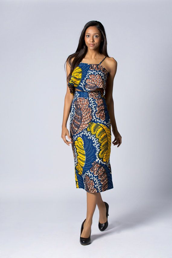 Potlood Wax print rok hoge taille rok Batik rok door COLUFashion