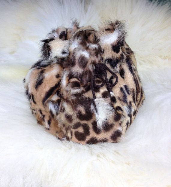 Real leopard printed fur pouch. by BeFur on Etsy, €28.50