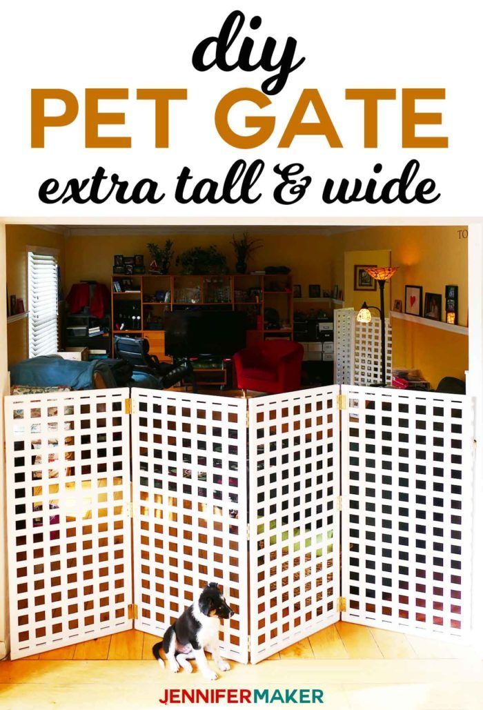 Diy Pet Gate Baby Gate Freestanding Extra Wide Tall Pet