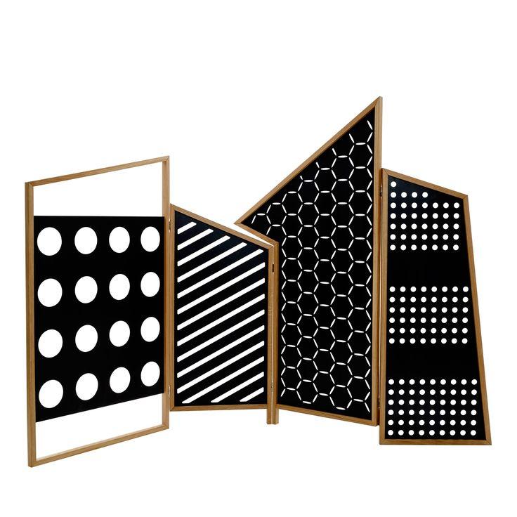opto folding screen room divider black shop col online at artemest