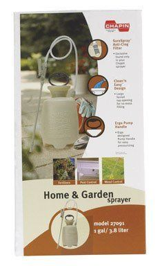"Chapin Poly Sprayer 1 Gallon by Chapin. $17.79. *""Clean 'n Easy"" design. *1 gallon. *""SureSpray"" anti-clog filter helps prevent clogging. *28"" hose length. ""CHAPIN"" POLY SPRAYER. Chapin Poly Sprayer 1 Gallon Surespray Anti-clog Filter Helps Prevent Clogging Clean N Easy Design 28 Hose Length 12 Straight Wand Funnel Top Opening For No Mess Filling Adjustable Poly Cone Nozzle Sprays Fine Mist To Coarse Stream Easy To Clean Poly Shut-off Requires No Tools Use For Spraying All Brands..."