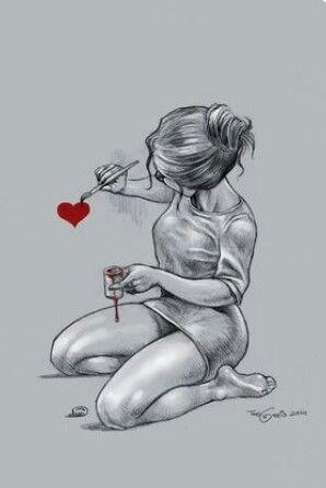 Con tinta del corazón...