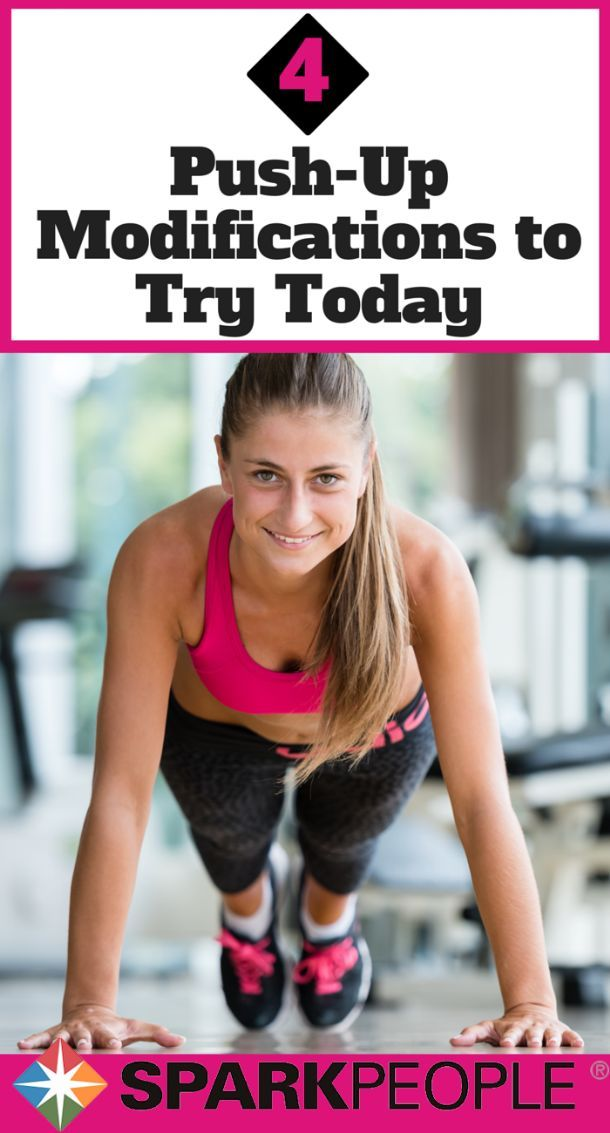 Awesome! Four steps away from a perfect full push-up!   via @SparkPeople #fitness #stronggirl #arms