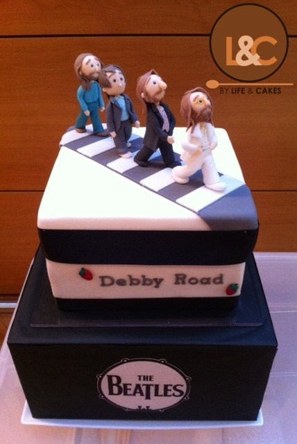 The Beatles cake by Life & Cakes, via Flickr
