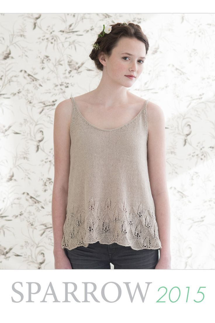 Sparrow 2015 - A collection of 5 new pieces for summer in our little Sparrow, 100% organic linen yarn, designed by Pam Allen and the Quince & Co team / Quince & Co