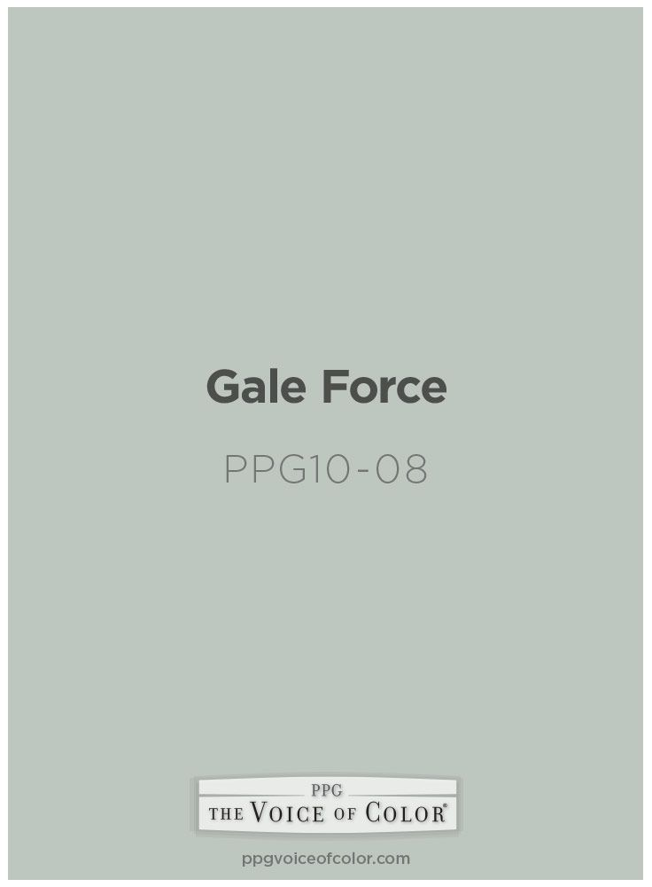 Gale Force paint color by PPG Voice of Color is inspired by a Nautical Breeze themed vacation along the Atlantic Coast.