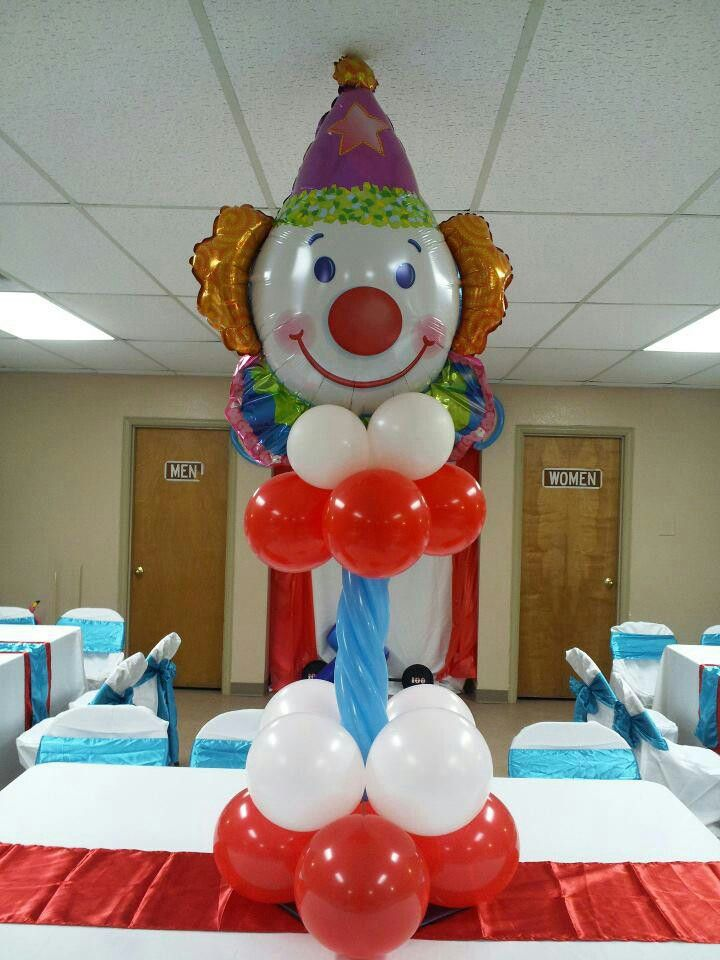 clown balloon centerpiece