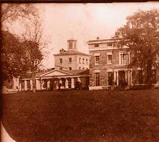 This photo from the 1860's shows the administration building, which still stands today. The buildings surrounding it housed the student dormitories and dining room. These buildings made up all of Fordham University or, as it was known then, St. Johns College. All but the administration building were either torn down or destroyed by a fire at the turn of the century.