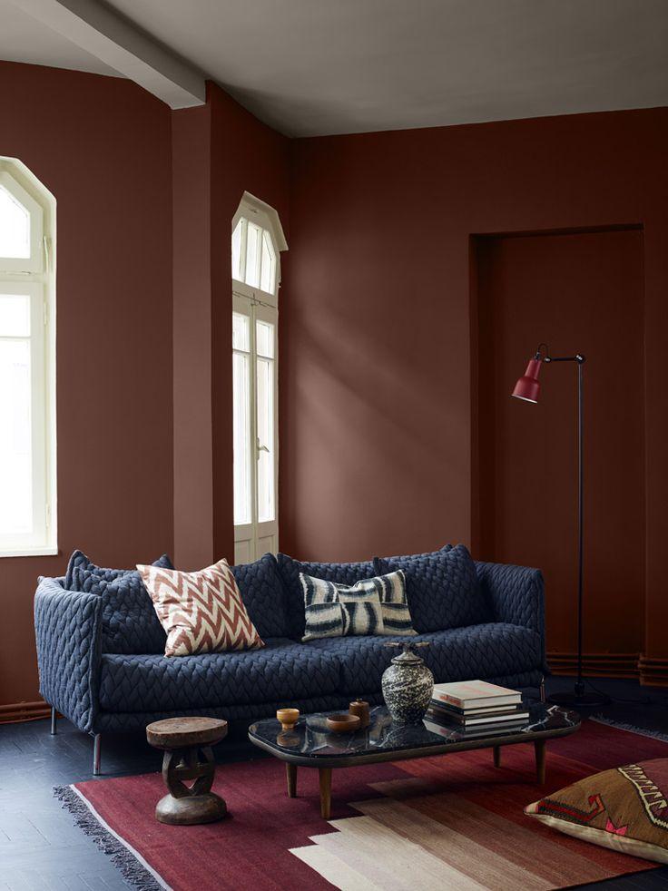 Lun stue med varme farger - LADY Inspirasjonsblogg