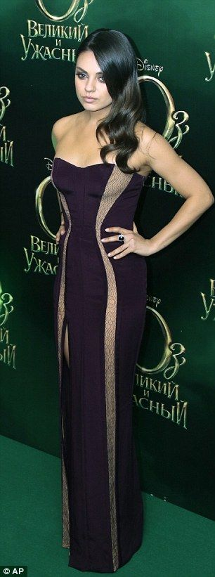 """Mila Kunis for the Russian premiere of """"Oz: The Great And Powerful"""", February 2013."""
