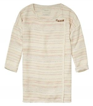 Maison Scotch Summer Poncho Cream