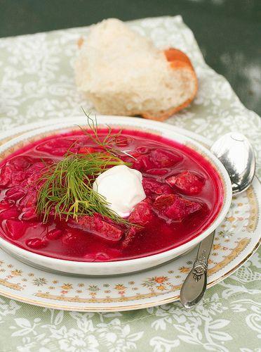 borscht from Veselka, NYC